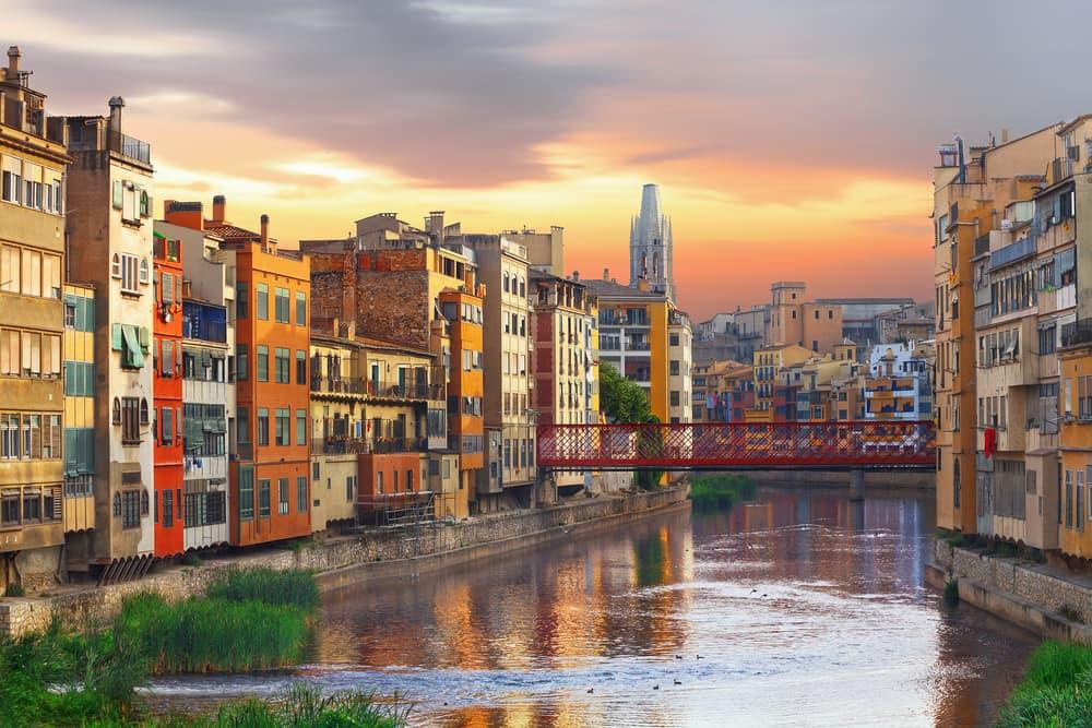 Girona på Costa Brava i Spanien