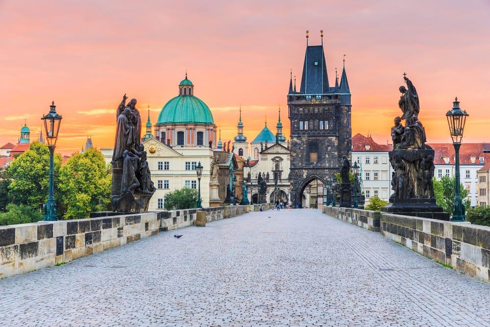 Karlsbroen - Prag i Tjekkiet