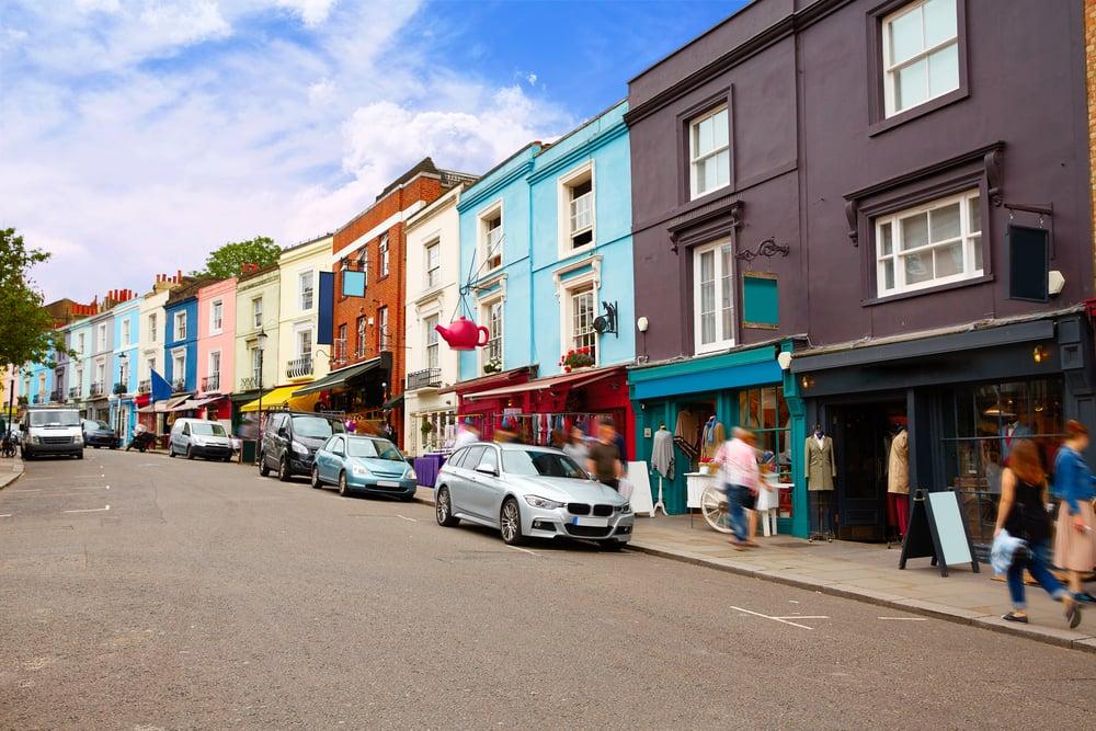 Portobello Road Market - London i England