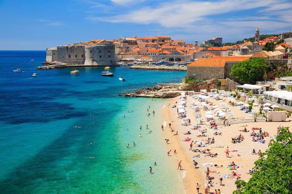 Strand i Dubrovnik - Kroatien