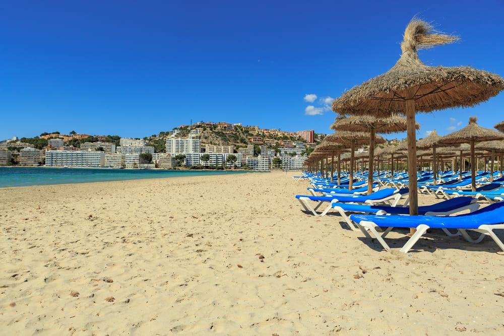Strand i Peguera - Mallorca i Spanien