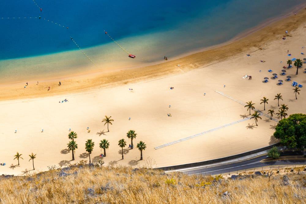 Teresitas stranden - Tenerife i Spanien