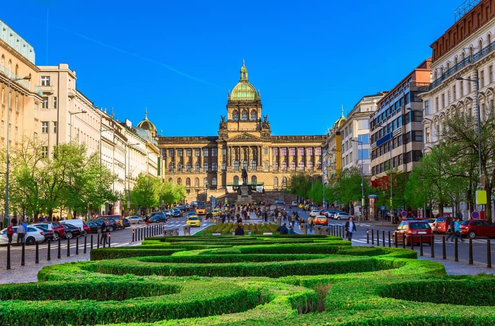 Wenceslas torvet - Prag i Tjekkiet