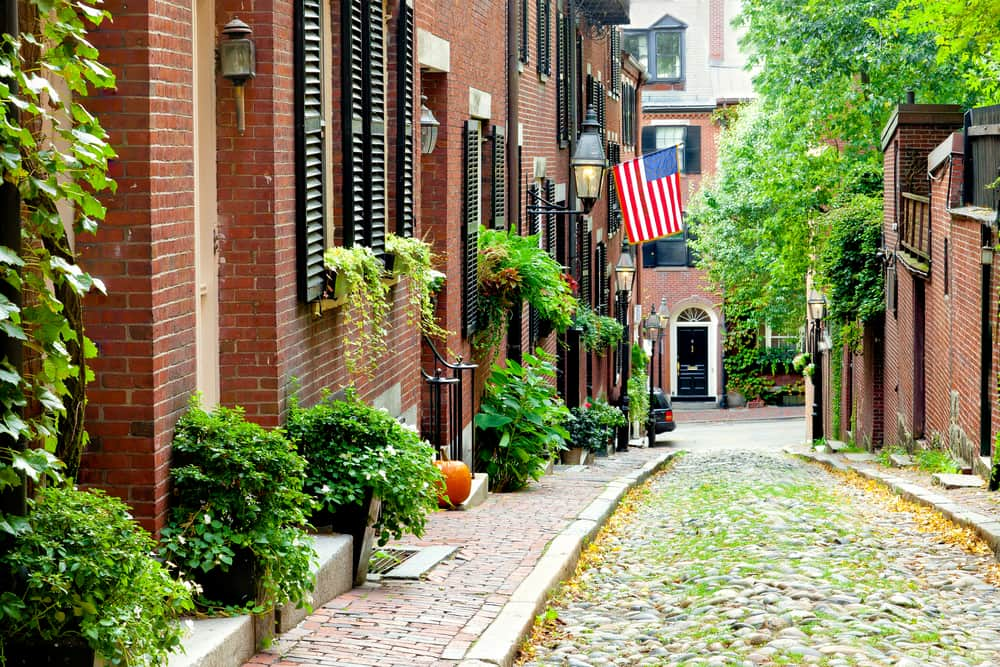 Acorn Street - Boston i USA