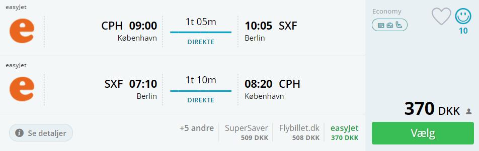 Billige flybilletter fra København til Berlin