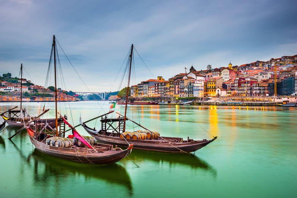 Douro floden i Porto - Portugal