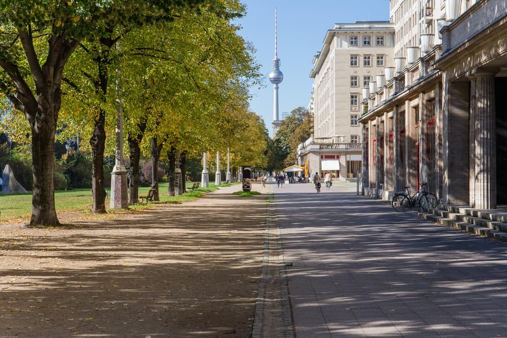 Downtown Berlin i Tyskland