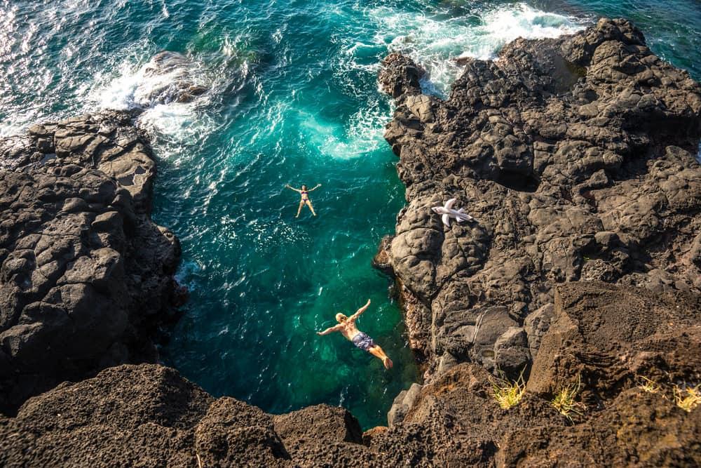Klippeudspring - Mauritius i Det Indiske Ocean