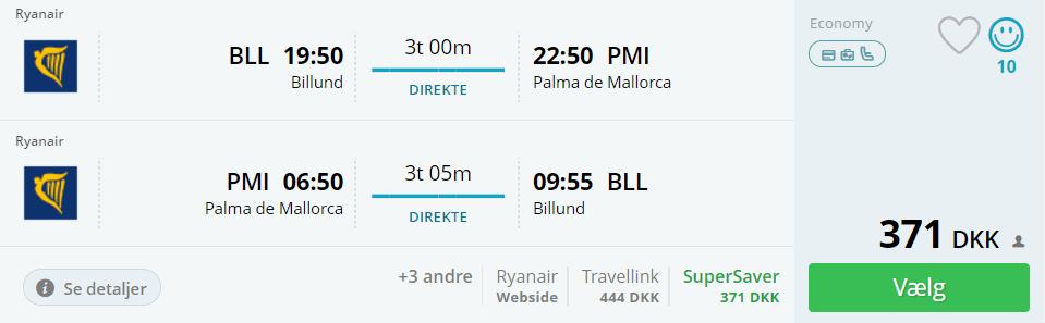 Fly til Mallorca fra Billund