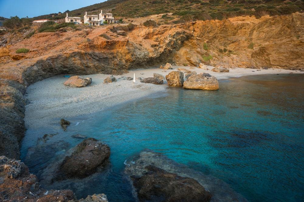 Zastani stranden - Evia i Grækenland