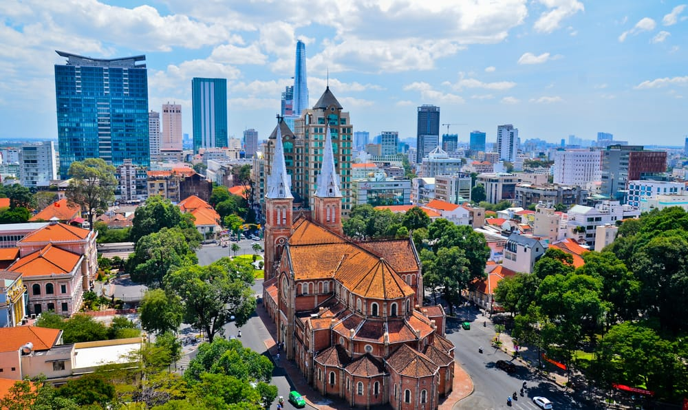 Notre Dame katedralen i Ho Chi Minh City