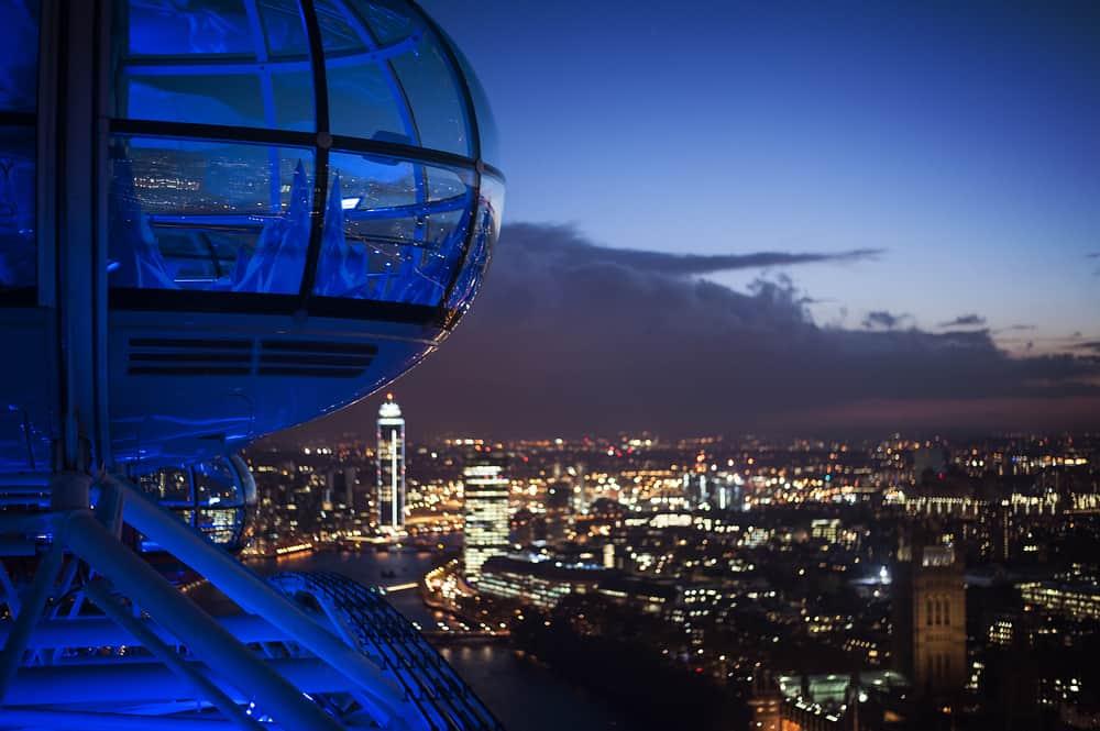 London Eye om aftenen