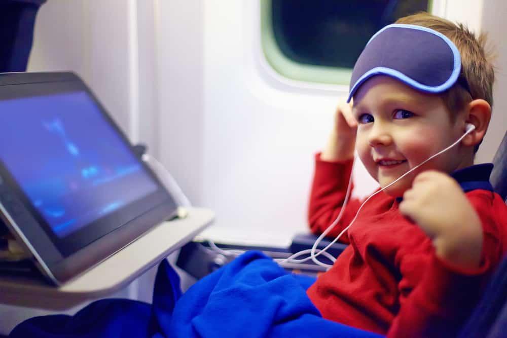 Børn med på flyveturen