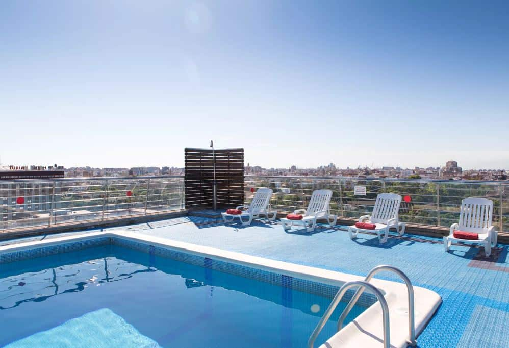 Expo Hotel Valencia - Pool på taget