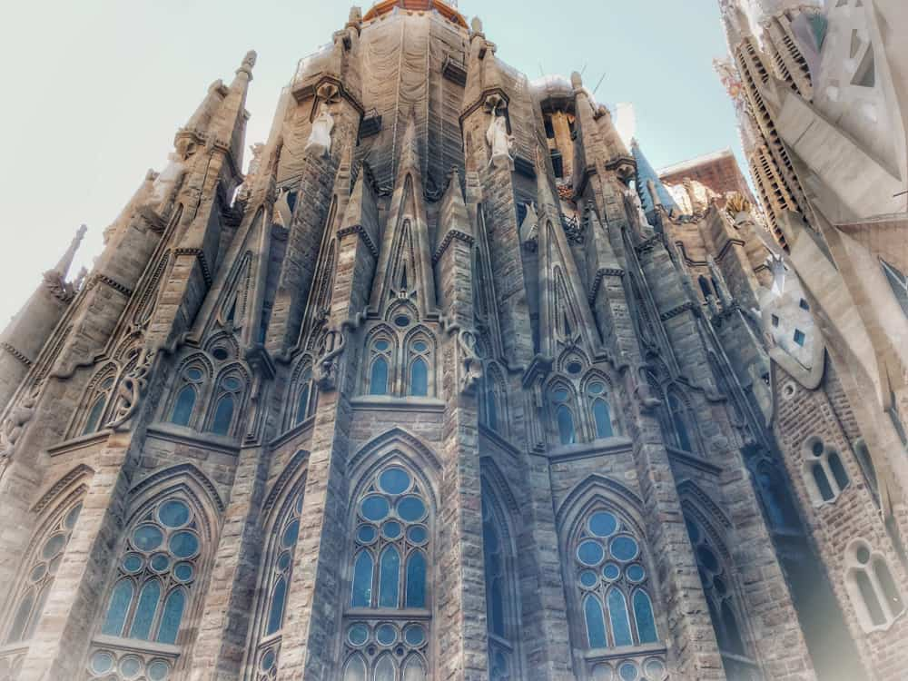 Close-up af Sagrada Familia