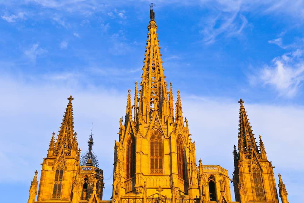 Tre af Sagrada Familias smukke tårnet