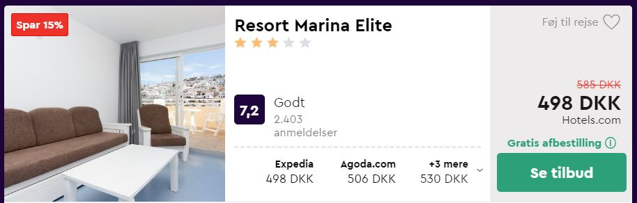 Resort Marina Elite på Gran Canaria