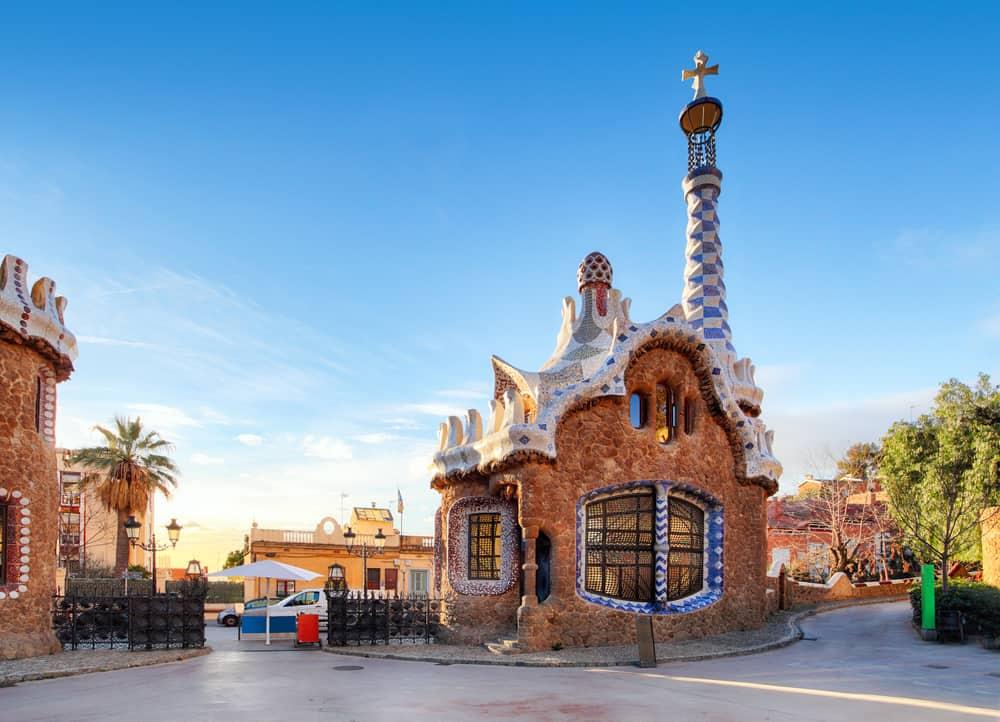 Park Güell - Barcelona i Spanien