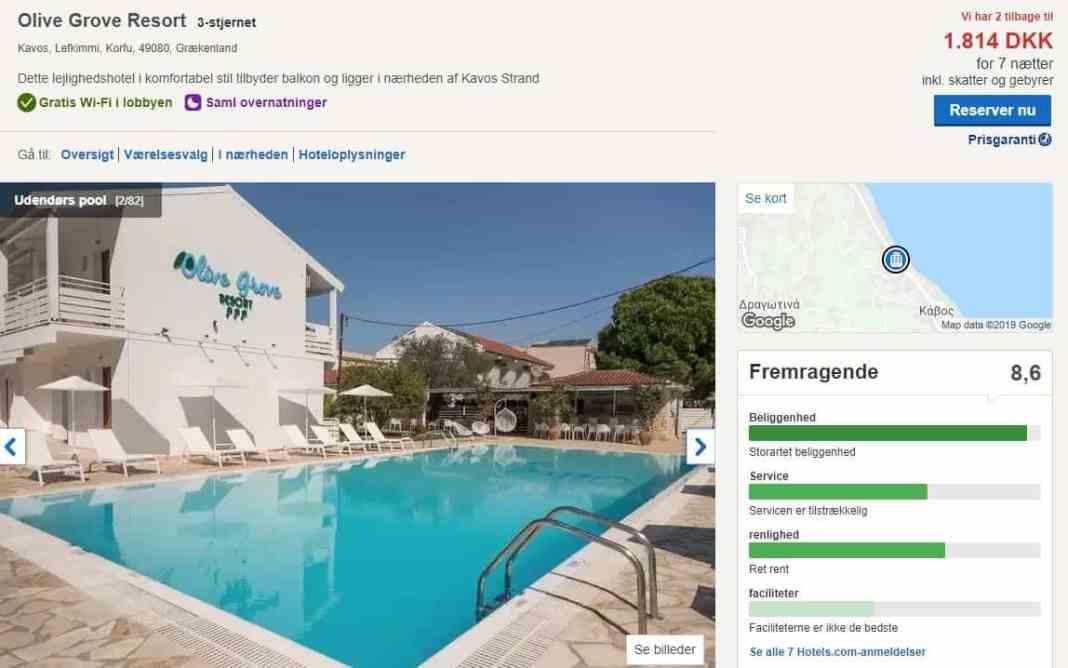 Olive Grove Resort på Korfu