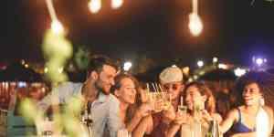 Party på Ibiza i Spanien
