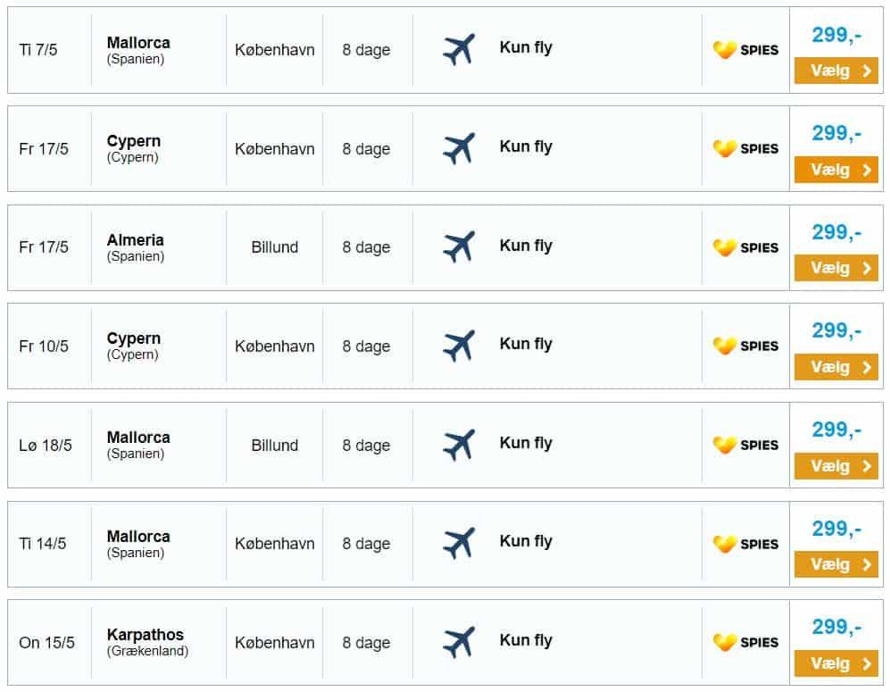Billige flybilletter til solferie