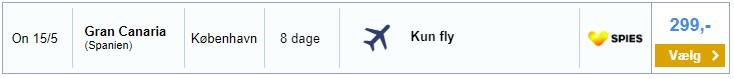 Flybilletter fra København til Gran Canaria
