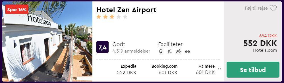 Hotel Zen Airport - Malaga i Spanien
