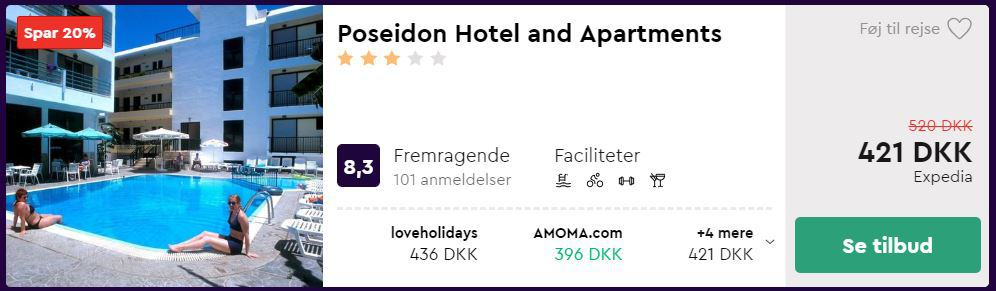 Poseidon Hotel and Apartments - Kos i Grækenland