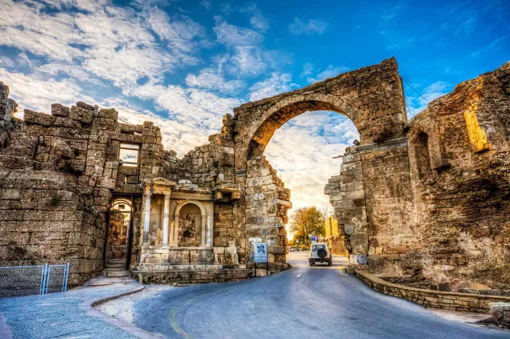 Den gamle bydel i Side - Tyrkiet