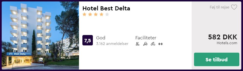 Hotel Best Delta - Mallorca i Spanien