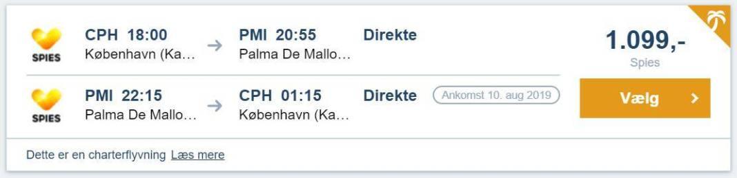 Flybilletter til Mallorca