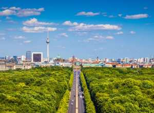 Panorama over Tiergarten i Berlin - Tyskland