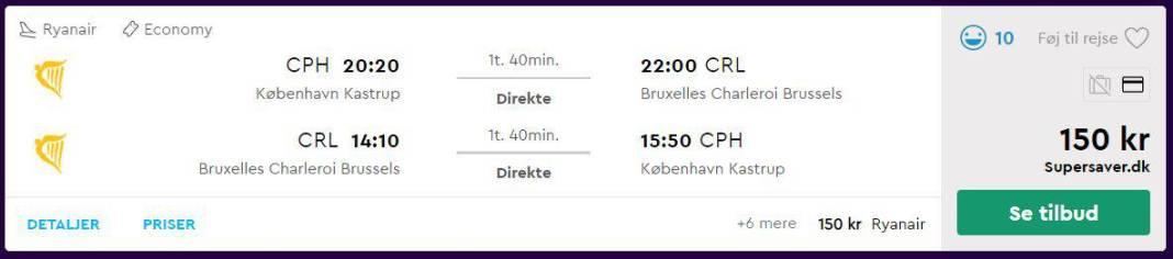 Billige flybilletter til Bruxelles