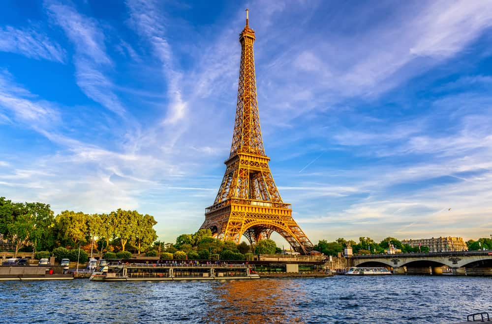 Eiffeltårnet i Paris i Frankrig
