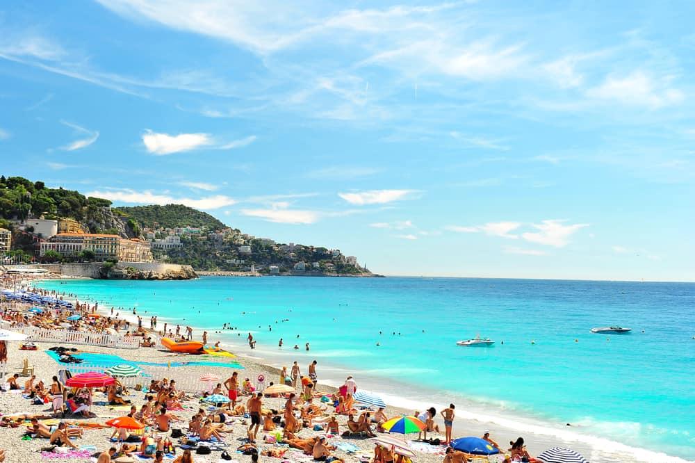 Strand i Nice - Frankrig