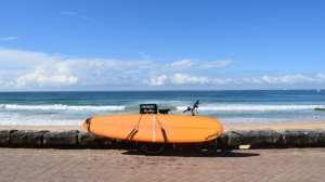 Surfbræt på cykel, Manly Beach, Sydney, Australien, rejser