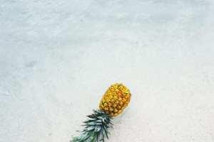 Ananas på stranden i Mexico, rejser