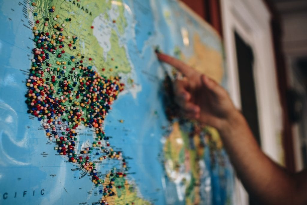 Verdenskort - usa - rejser