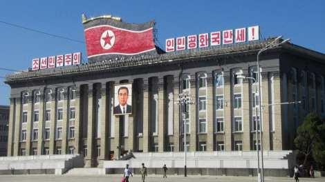 北朝鮮-平壌、金日成広場-旅行