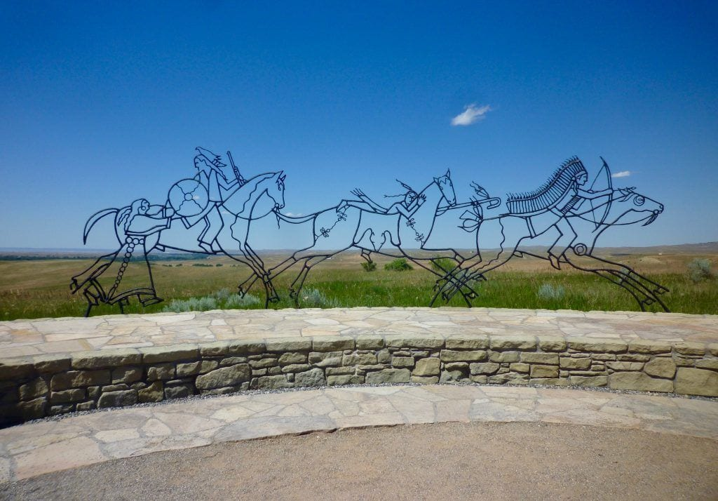 USA - Monument i Litte Big Horn Battlefield, Indianere - rejser - Indianerreservat