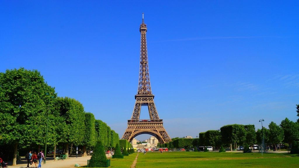Frankrig - Paris, Eiffeltårnet, Champ-de-Mars - rejser