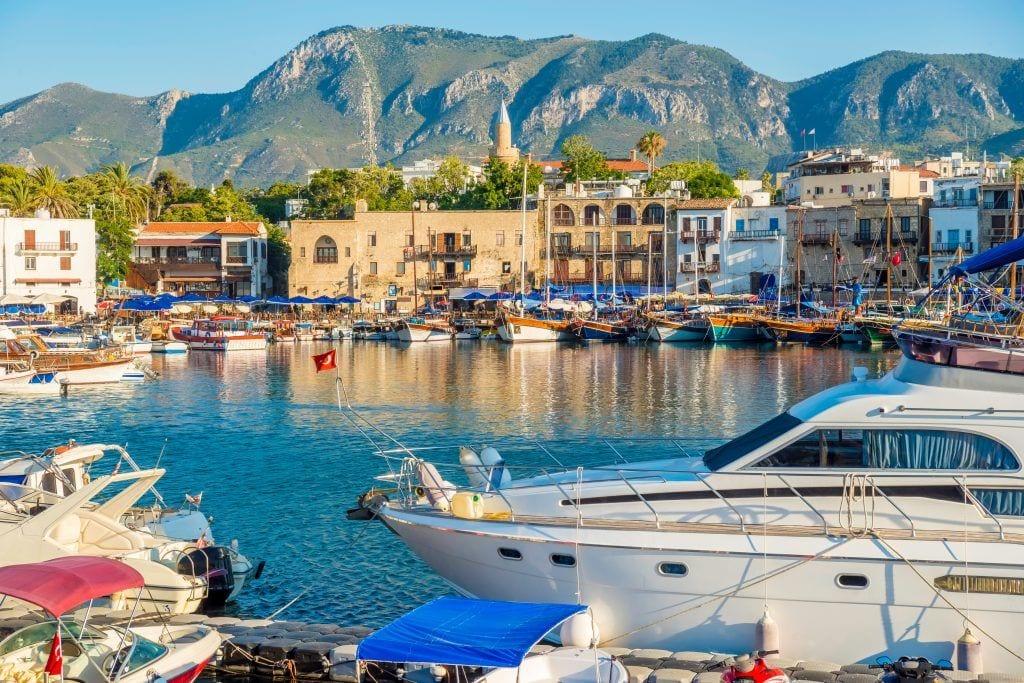 Cipro - porto di Cipro del nord di kyrenia - viaggi