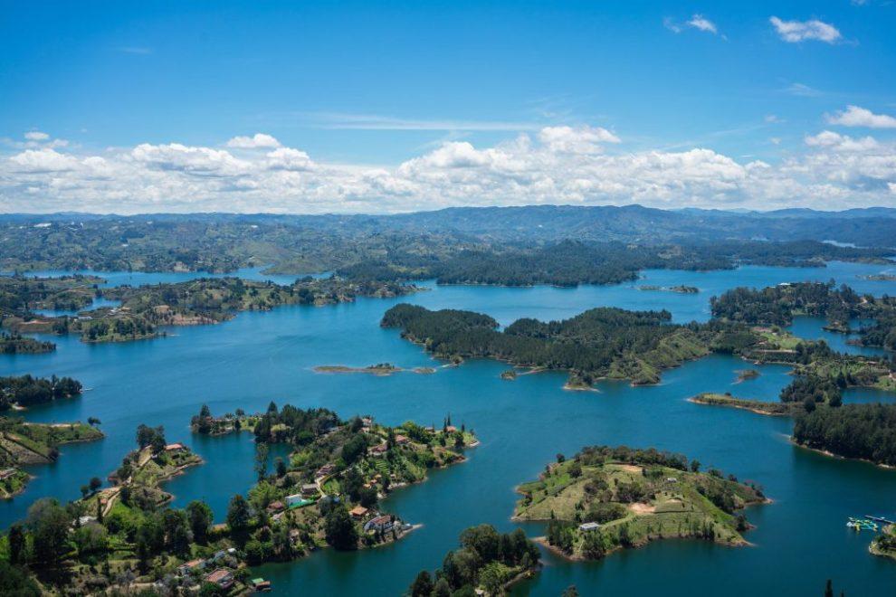 Colombia, Guatape, Peñol, lake, islands, travel
