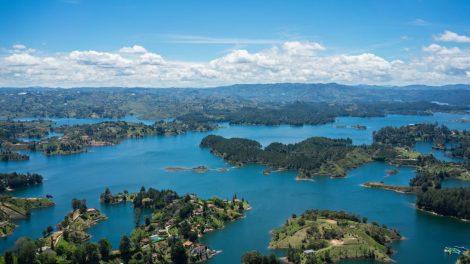 Colombia, Guatape, Peñol, sø, øer, rejser