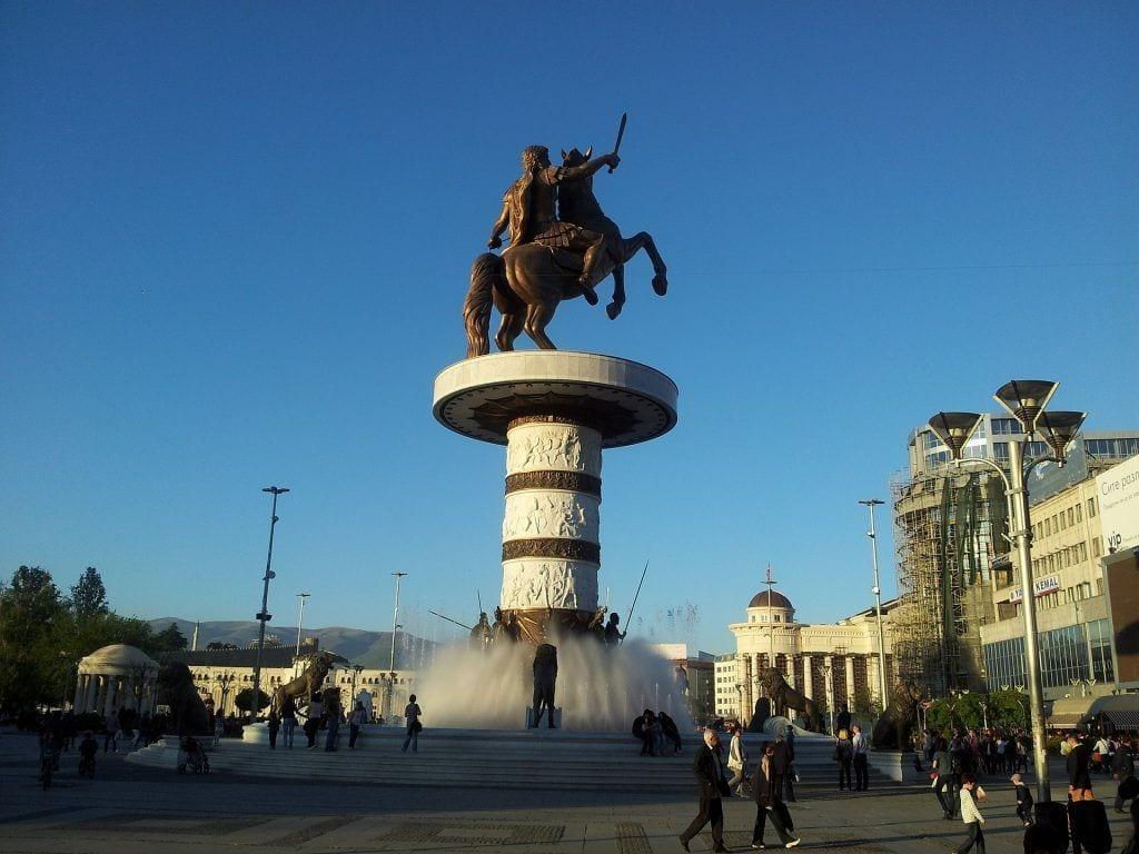 Macédoine - Statue métropolitaine de Skopje - Voyage