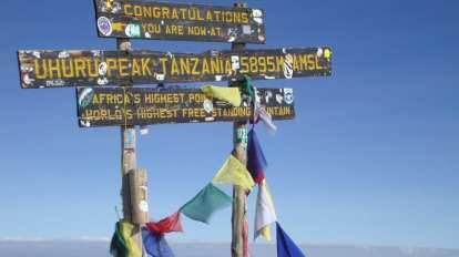 Tanzania - Kilimanjaro, sign - travel