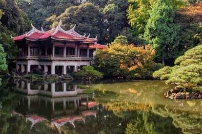Giappone - tempio natura lago - viaggio