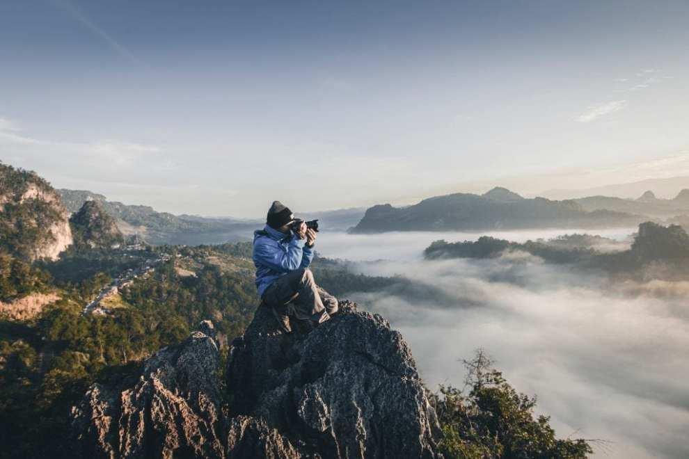 fotograf - człowiek góry przyroda - podróże