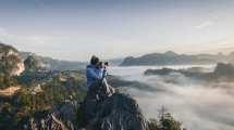 fotograf - mand bjerge natur - rejser