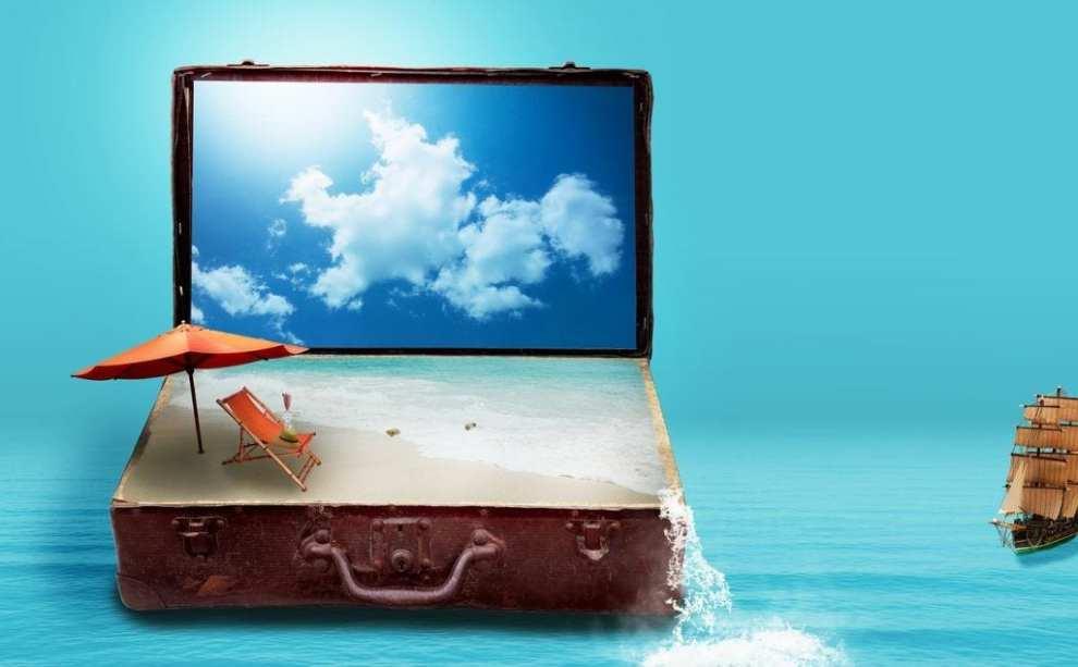 Suitcase - sand - travel